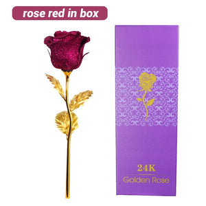 24k Gold Roses Romantic Colorful Led Fairy Rose Artificial Galaxy Rose Flowers For Girl Friend Valentine's Day Gift Wedding Party Home Decor - Center Of Treasures