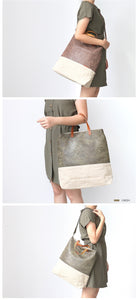 Large Capacity Canvas Bag Retro Art Single Shoulder Bag Women Vintage Handbag - Center Of Treasures