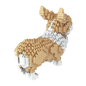 Building Blocks Bricks Mini Creative Diy Children Toys Block Particles Husky Teddy Puppy Dog Puzzle - Center Of Treasures