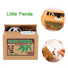 Piggy Bank Cat Coin Box Money Saving Boxes Panda Eat Coins Money Safe Digital Toy Gifts For Kids - Center Of Treasures
