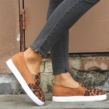 Women's Flat Shoes Sneakers Casual Slip-on Round Shoes Flats Leopard Print - Center Of Treasures