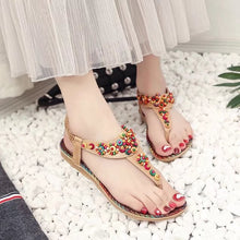 Sandals Ankle-Strap Shoes Women Flat Sandals Narrow Band Summer Shoes Girl Flip Flops Big Size Bohemia - Center Of Treasures