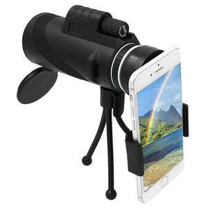 Waterproof 40x60 Hd Monocular Phone Attachment Telescope Optical Zoom Mobile Lens Smartphones Clip Camera - Center Of Treasures