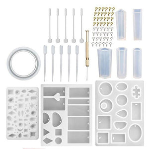 Diy Crystal Glue Jewelry Mold Set Silicone Mold Sets For Epoxy Resin Casting Jewelry Tools - Center Of Treasures