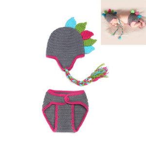 Newborn Baby Photography Props Girl Boy Animal Pants Knit Hat Set Cute Baby Hand Made Crochet Costume Photo Shoot Clothes - Center Of Treasures