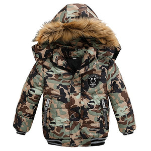 Baby Boys Jacket Toddler Coat Children Kids Hooded Warm Outerwear Clothes - Center Of Treasures