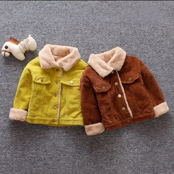Kids Baby Boys Girls Jacket Clothes Clothing Infant Child Tops Wool Jackets Coat - Center Of Treasures