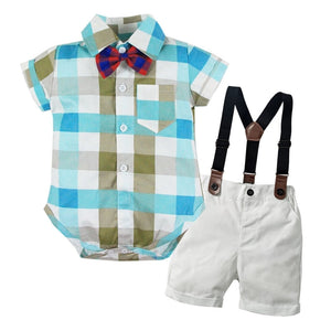 Baby Boys Clothes Sets Newborn Infant Kids Outfits 2pcs Tops+shorts Wedding Party Birthday Gentleman - Center Of Treasures