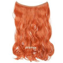Hair Extension Synthetic Hair Invisible Wire No Clip One Piece Halo Flip In False Hair Hairpieces For Women - Center Of Treasures