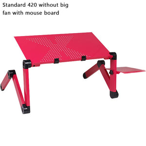 Adjustable Laptop Desk Computer Table Stand Tray Portable Fold Able Tray - Center Of Treasures