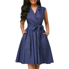 Summer Dress Casual Plus Size Slim Elegant Solid Office A Line Dresses - Center Of Treasures