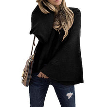 Woman Pullover Knit Sweater Loos Casual Flare Long Sleeve - Center Of Treasures