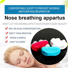 2 In 1 Anti Snoring & Air Purifier For Slipping Silicone Nose Clip Nasal Dilator Sleeping Aid Apnea Device - Center Of Treasures