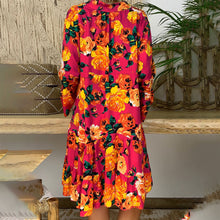 Floral Print Dress Plus Size Long Sleeve V-neck Dresses Summer Fashion Clothing - Center Of Treasures