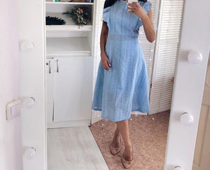 Casual Dress Maxi Long Midi Office A-Line Lace Sleeveless Elegant Dress - Center Of Treasures