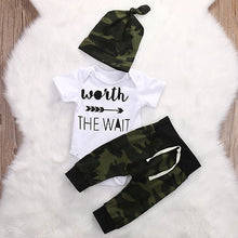 Baby Outfit Newborn Baby Girl Boy Clothes 3 piece Worth the Wait - Center Of Treasures