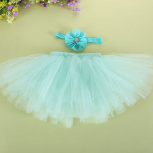 Baby Newborn Photography Props Baby Tutu Skirt Headband Set Photos Props New Born Photography Accessories - Center Of Treasures