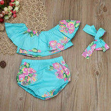 Floral Toddler Baby Girl Off Shoulder T Shirt Tops Shorts Outfit children Clothes Sets Baby Girl Clothes Set - Center Of Treasures