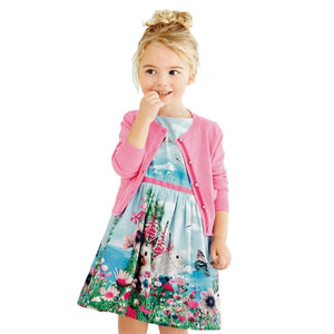 Cute Fashion New Baby Girl  Occident Dress Sleeveless Clothes Children Cotton Princess Party Dresses - Center Of Treasures