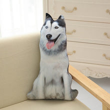 Simulation Dog Pillow Plush Toy 3D Printing Stuffed Animal Dog Plush Stuffed Cartoon Cushion Kids 50cm Cute Doll Home Decro Gift - Center Of Treasures