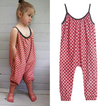 Toddler Kids Baby Girls Straps Printing Rompers Jumpsuits Piece Pants Clothing - Center Of Treasures