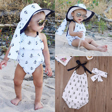 Infant Toddler Baby Girl Romper Suit Jumpsuit Outfit Anchor Ruffle Romper Sunsuit Clothes - Center Of Treasures