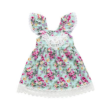 Toddler Kids Baby Princess Girls Summer Straps Lace Dress Ruffles Floral Skirt - Center Of Treasures