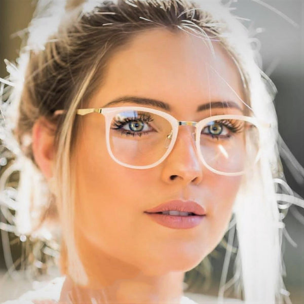 Glasses Frames For Women Ladies Aesthetic 2019 Trend Brown Vintage Square Metal Legs New 2018 Vintage Optical Eye Glasses Women Frame Oval Metaleosegal - Center Of Treasures