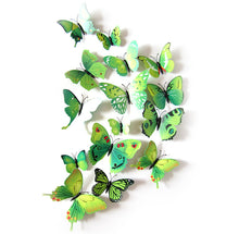 Butterfly 3D Wall Stickers - 12 Pieces Qualified  Decal Home Decorations Rainbow PVC Wallpaper for living room - Center Of Treasures