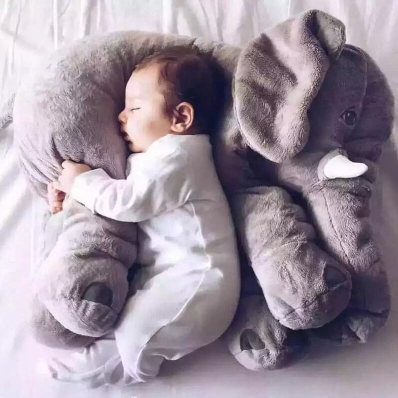 Giant Elephant Baby Pillow Stuffed Animal colorful Toy Infant Soft Pillow For Sleeping Stuffed Animals Doll Plush - Center Of Treasures
