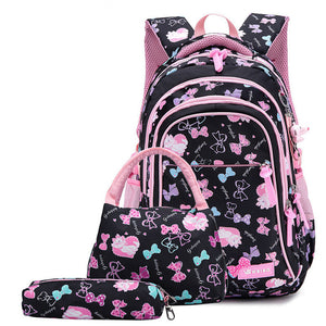 waterproof Children School Bags for Girls princess school Backpacks Kids Printing Backpacks set Schoolbag kids mochila infantil - Center Of Treasures