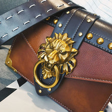Women Lion Head Lock Handbag Luxury Famous Brand Female Shoulder Bags PU Leather Messenger Crossbody Bags Fashion Party Clutch - Center Of Treasures