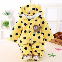 Baby Girls/Boys Plus Velvet Thicker Coat Infant Newborn Warm Jumpsuits For Girl Toddler Cotton Hooded Clothes New Born Kids Footies - Center Of Treasures