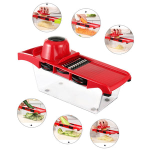 Multifuction Quick Done Mandoline Slicer Vegetable Cutter Stainless Steel Blade Manual Potato Onion Peeler Carrot Grater Dicer - Center Of Treasures