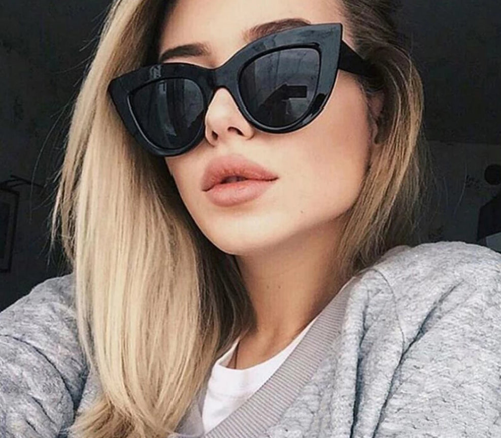 Vintage Sunglasses Women Cat eye Sunglass Retro Sun glasses Female Pink Mirror Eyewear - Center Of Treasures