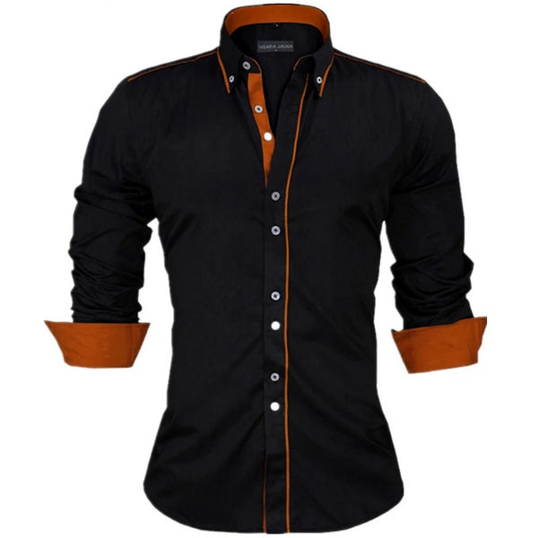Men Shirts Europe Size New Arrivals Slim Fit Male Shirt Solid Long Sleeve British Style Cotton Men's Shirt - Center Of Treasures