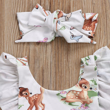 Newborn Toddler Infant Baby Girls Deer Ruffles Romper Jumpsuit Clothes Outfits Fashion - Center Of Treasures