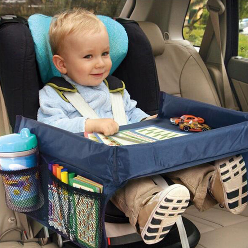 Baby Car Seat Tray Stroller Kids Toy Food Water Holder Desk Children Portable Table For Car Snack & Play Travel Tray New Child Table Storage Travel Play - Center Of Treasures
