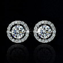 Women Wedding Necklace Earring Ring Jewelry Set Top Quality Exquisite silver plated silver Plated Zircon Crystal - Center Of Treasures