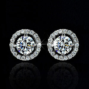 Top Quality Exquisite Women Wedding Necklace Earring Ring Jewelry Set silver plated silver Plated Zircon Crystal - Center Of Treasures