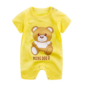 Baby Clothes 100% Cotton Short Sleeve Summer Girls Boys Rompers Toddler Infant 0-18 Months Clothes - Center Of Treasures