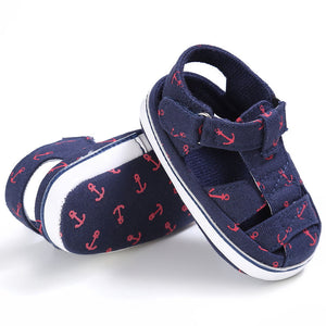 Baby Boys Girls Shoes Infant Toddler Cute Fashion Shoes Soft Sole Casual First Walker Indoor Climb Shoes Summer Style Fashion Anchor - Center Of Treasures