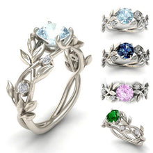 Crystal Flowers Branch Leaf Vine Shaped Finger Ring Alloy Rings For Women Girls Wedding Engagement Party 4 Colors Fashion Jewelry Gifts - Center Of Treasures