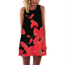 Summer Short Dress Fashion Red Lips Print Cute Party Dress Sleeveless O Neck Casual Dresses - Center Of Treasures