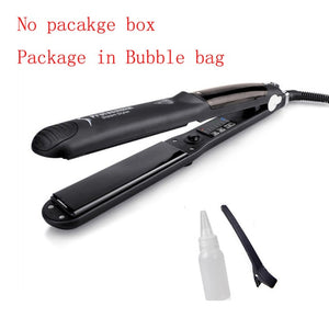 Professional Steam Hair Straightener Curls Best Products Design Ceramic Chapinha Flat Iron Straightener Hair Iron Vapor Steam Steamer - Center Of Treasures