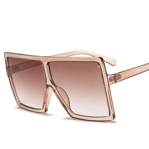 Oversized Women Sunglasses Big Frame Gradient Shades Square Designer Vintage Fashion Sun Glasses - Center Of Treasures