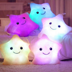 New!2019 Illuminate Star Shape Baby Pillow Plush Baby Room Decor Bedding Crib Decoration Infantil Pillow Emoticon Pillow Cushion - Center Of Treasures