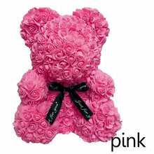 Luxury Rose Teddy Bear Flower Artificial Valentines Romantic Gift - Center Of Treasures