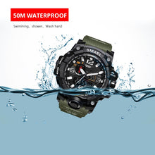 Men Military Watch 50m Waterproof Wristwatch LED Quartz Clock Sport Watch Male S Shock - Center Of Treasures