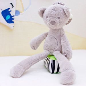cute Baby Crib Stroller Toy Rabbit Bunny Bear Soft Plush infant Doll Mobile Bed Pram kid Animal Hanging Ring Ring Color Random - Center Of Treasures